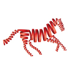 Abstract isolated red horse vector image