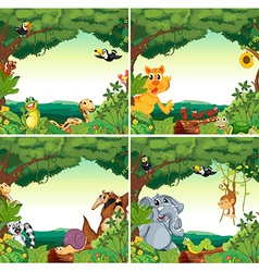 Animals and forests vector