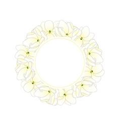 Arabian jasmine banner wreath vector