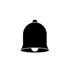 Bell solid icon education and school element vector