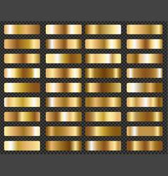 big set metallic gold gradients transparent vector image