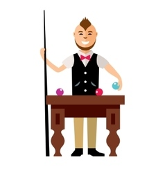 Billards Flat style colorful Cartoon vector