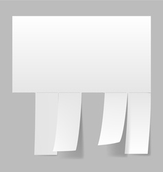 Blank advertisement vector image