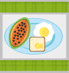 Breakfast food fresh health image vector