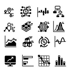 Business diagram and graph icons set vector
