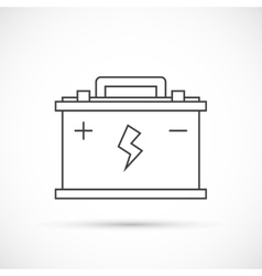 Car battery outline icon vector