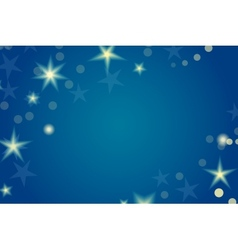 Card template with stars and space for your text vector image