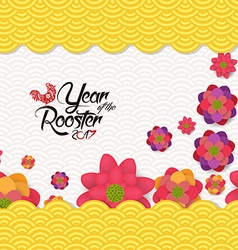Chinese new year 2017 blossom pattern background vector