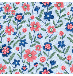 chintz flowers seamless pattern vector image