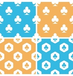 Clubs pattern set colored vector image