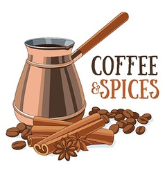 Coffee and spices vector image