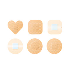 collection realistic medical adhesive plasters vector image