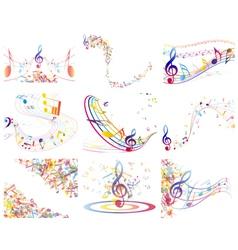 Color notes set vector