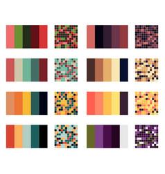 color palette set background harmony color combos vector image