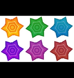 Colourful stars vector