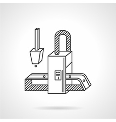Conveyor element flat line icon vector image