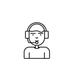 customer service online icon marketing icon thin vector image