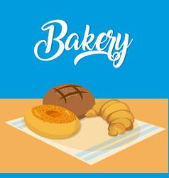 Delicious bakery concept vector