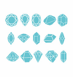 Diamonds collection for your design vector