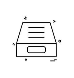 drop icon design vector image