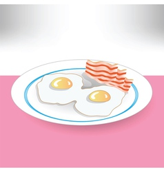 Eggs and beacon vector