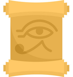 Egypt papyrus icon flat isolated vector
