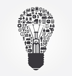 Elements are small icons make in light bulb vector