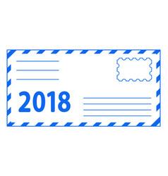 envelope 2018 lettering vector image