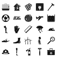 facilitation icons set simple style vector image