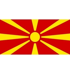 Flag of Macedonia correct size and colors vector image