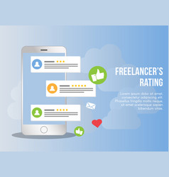 Freelancer rating concept design template vector