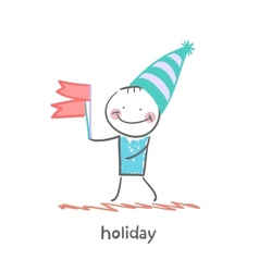 holiday with flags vector image