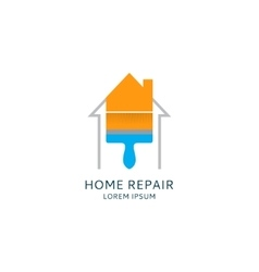 Home repair logo template vector image