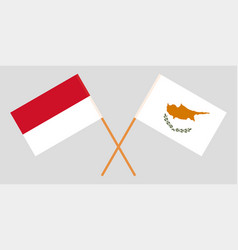 Indonesian and cyprian flags vector