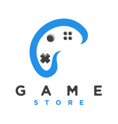 logo game pad for game store vector image
