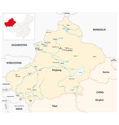 Map xinjiang uygur autonomous region china vector