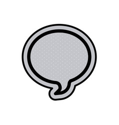 Monochrome oval speech and black outline with vector