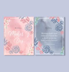 Mothers day card elegant flowers line flower vector