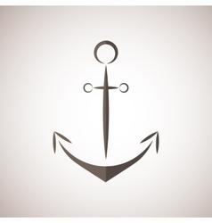 Nautical anchor two colors anchor icon vector image