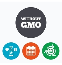 No GMO sign Without Genetically modified food vector image