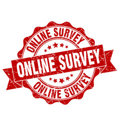 online survey stamp sign seal vector image