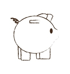Piggy save money bank sketch vector