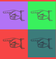 Pop art style andy warhol style vector