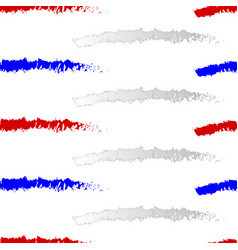 red white and blue stripes seamless pattern vector image