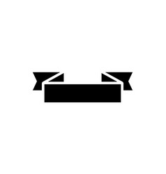 ribbon 2 corners 2 icon vector image