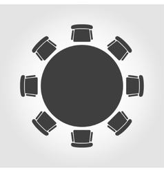 round table icon vector image