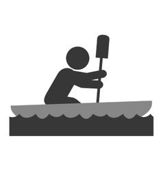 rowing person pictogram icon vector image