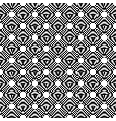 Seamless circles pattern black and white repeating vector image