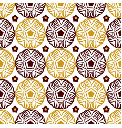 seamless decorative circle pattern with gold vector image