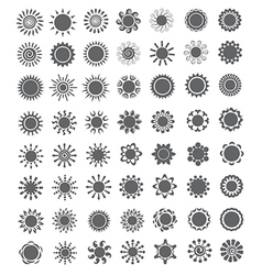 Set of decorative sun Logo and design elements vector